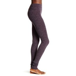 Free People Purple Heathered Knit Leggings size-s